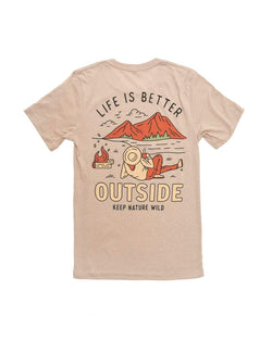 Better Outside Unisex Tee | Heather Tan - Keep Nature Wild
