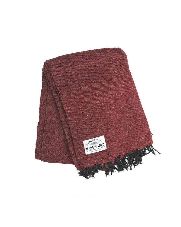 Keep Nature Wild Blanket Burgandy Solid | Blanket