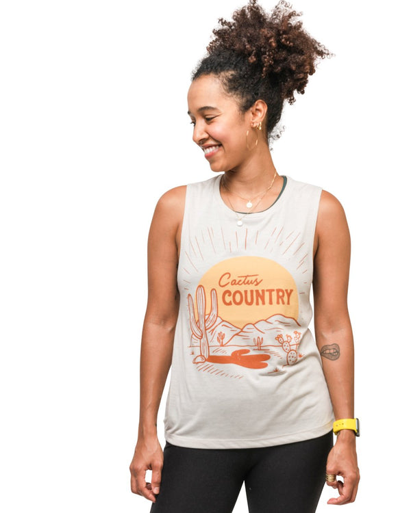 Keep Nature Wild Tank Cactus Country Women's Muscle Tank | Dust