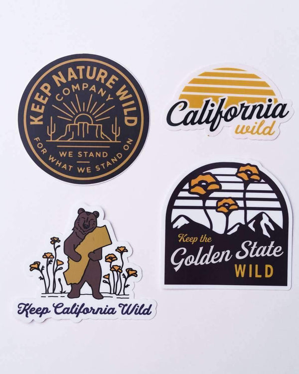 California Wild | Sticker Pack - Keep Nature Wild