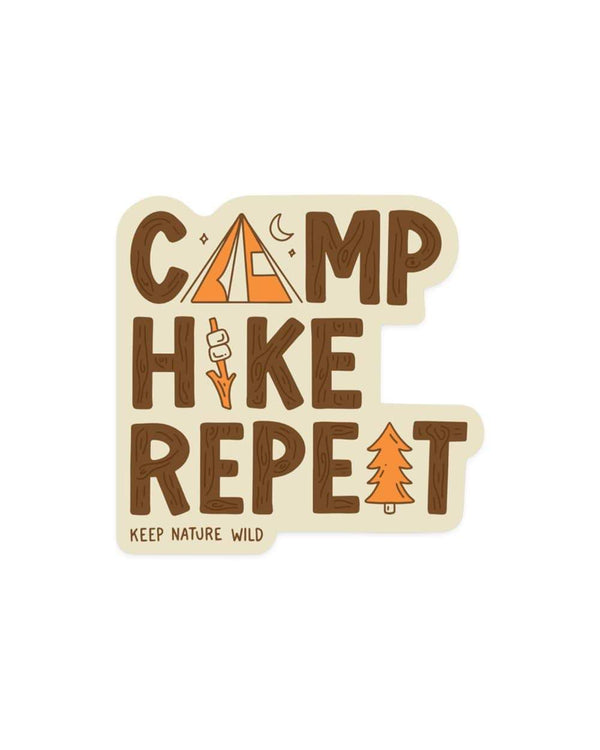 Camp Hike Repeat | Sticker - Keep Nature Wild