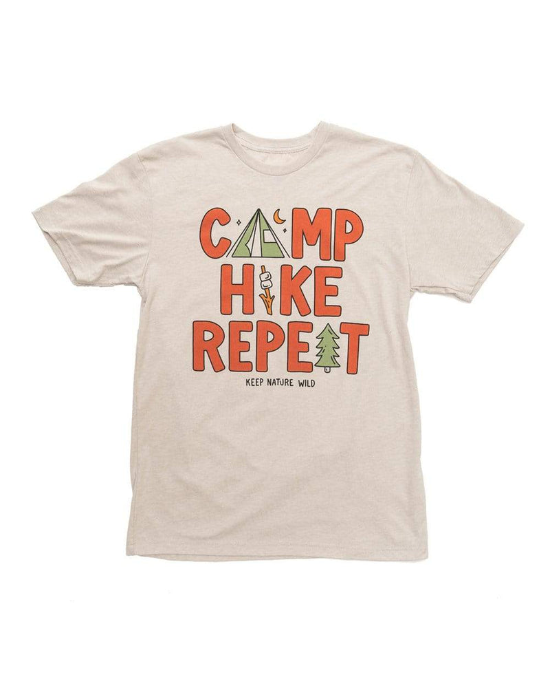 Camp Hike Repeat Unisex Tee | Sandstone - Keep Nature Wild