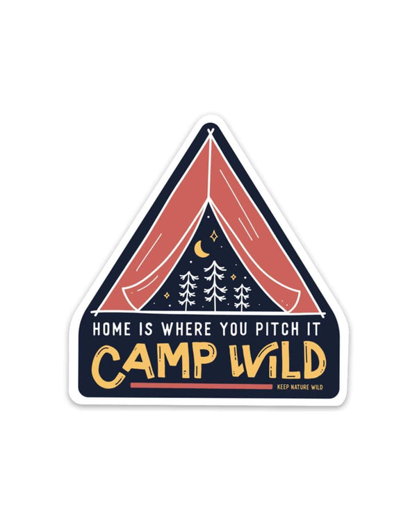 Camp Wild | Sticker - Keep Nature Wild