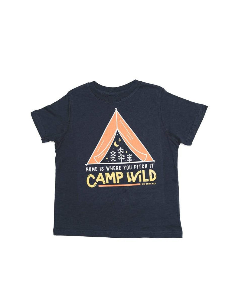 Camp Wild Toddler Tee | Navy - Keep Nature Wild