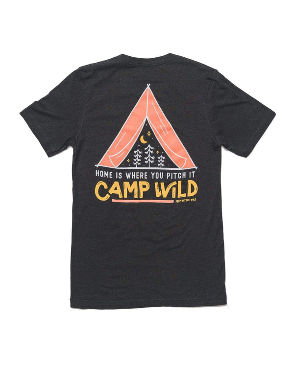Camp Wild Unisex Tee | Heather Black - Keep Nature Wild