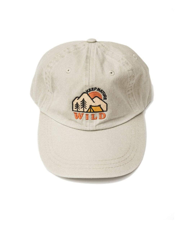 Keep Nature Wild Hat Campsite Dad Hat | Sand