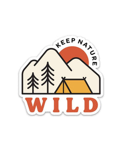 Keep Nature Wild Sticker Campsite | Sticker