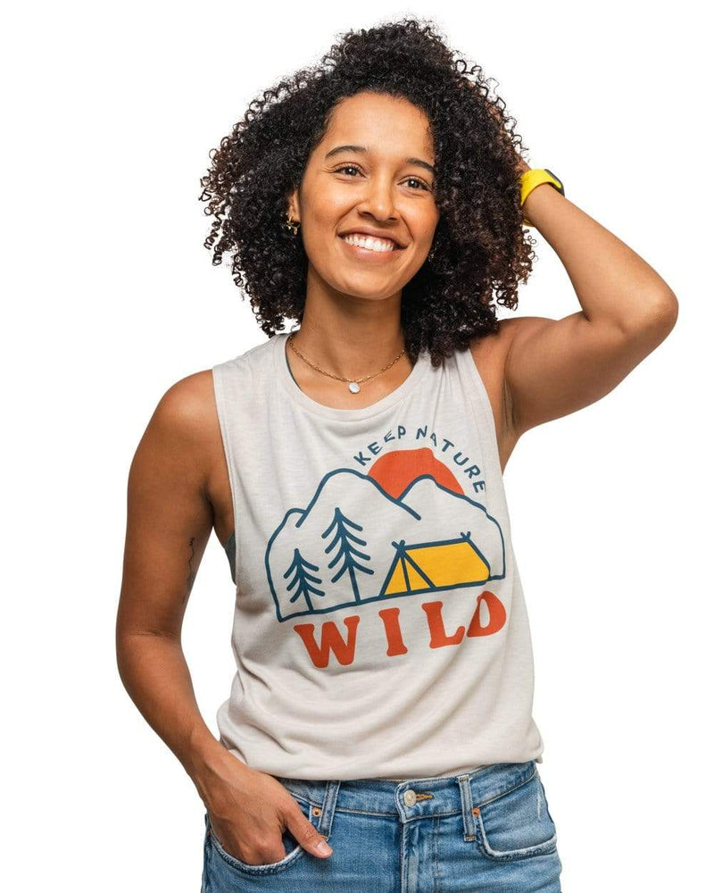 Keep Nature Wild Tank Campsite Women's Muscle Tank | Dust