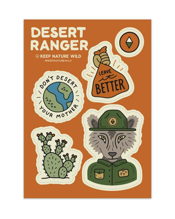 Keep Nature Wild Sticker Desert Ranger | Sticker Sheet