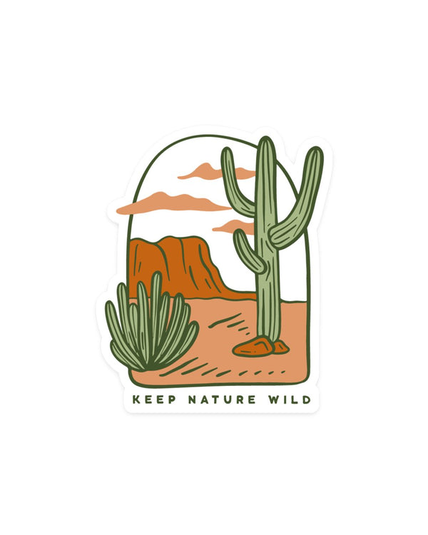 Keep Nature Wild Sticker Desertscape | Sticker