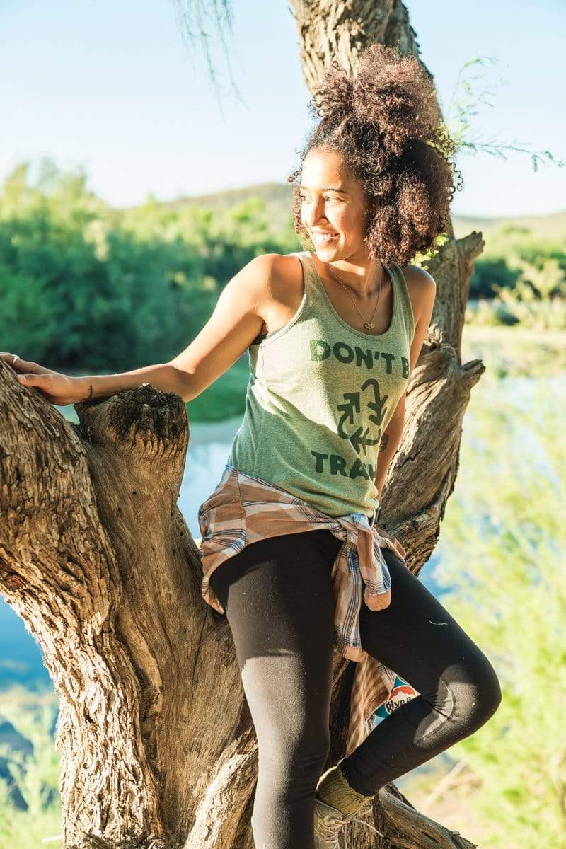 Don't Be Trashy Women's Racerback Tank | Forest - Keep Nature Wild