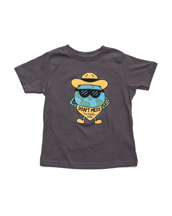 Keep Nature Wild Kids Don't Mess With Me Toddler Tee | Charcoal