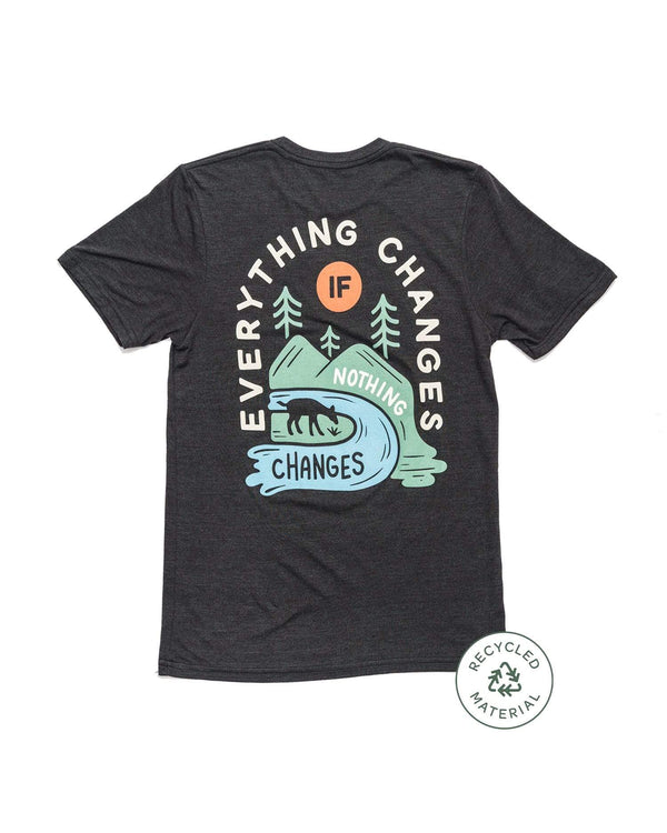 Keep Nature Wild Tee Everything Changes Recycled Unisex Tee | ECO Black