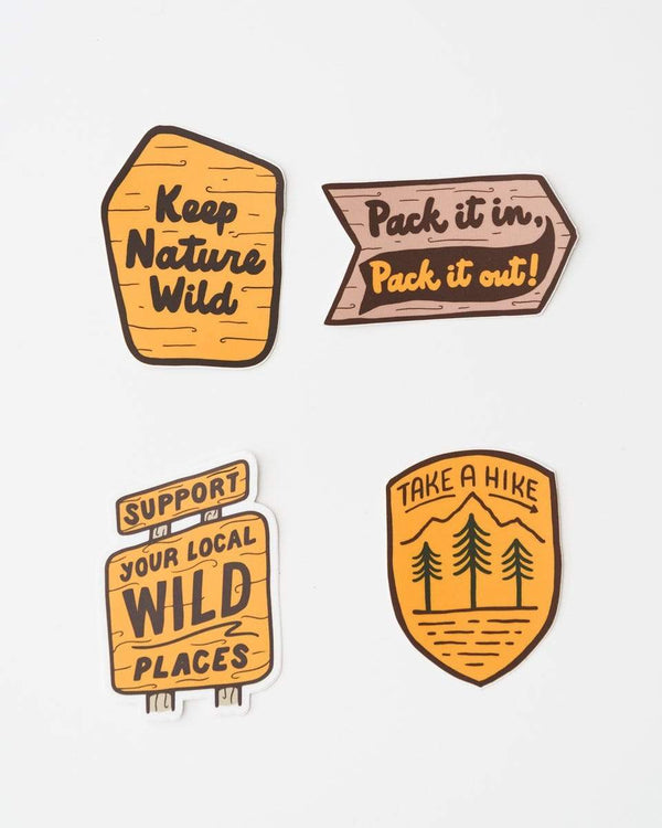 Follow the Signs | Sticker Pack - Keep Nature Wild