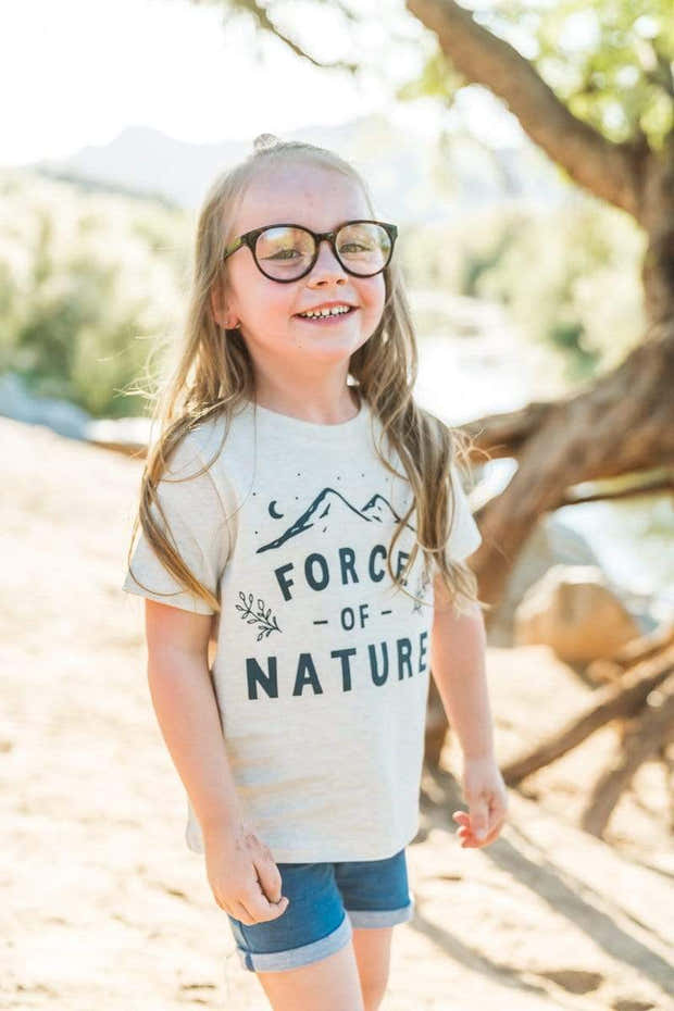Force of Nature Toddler Tee   Natural Heather 1