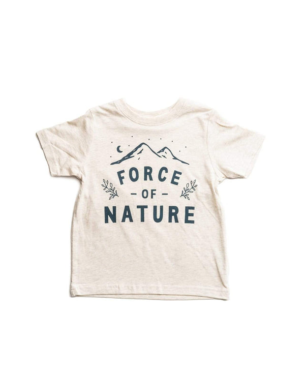 Force of Nature Toddler Tee | Natural Heather - Keep Nature Wild