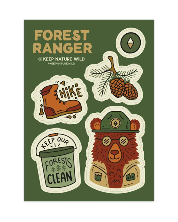 Keep Nature Wild Sticker Forest Ranger | Sticker Sheet