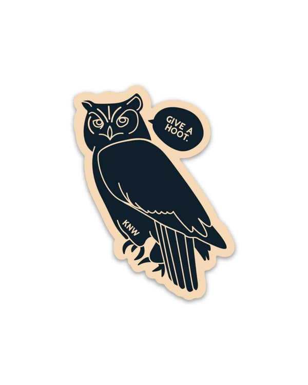 Give A Hoot | Sticker - Keep Nature Wild