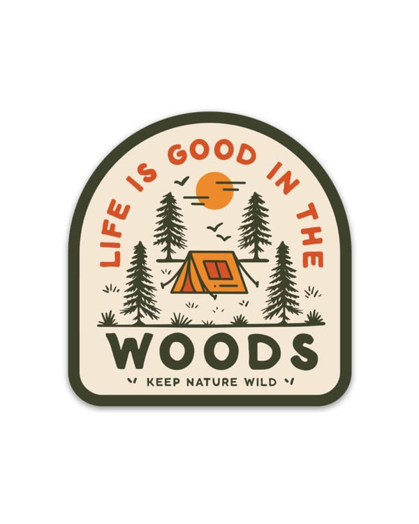 Keep Nature Wild Sticker Good in the Woods | Sticker