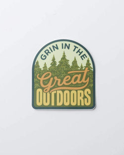 Grin in the Great Outdoors Forest | Sticker - Keep Nature Wild