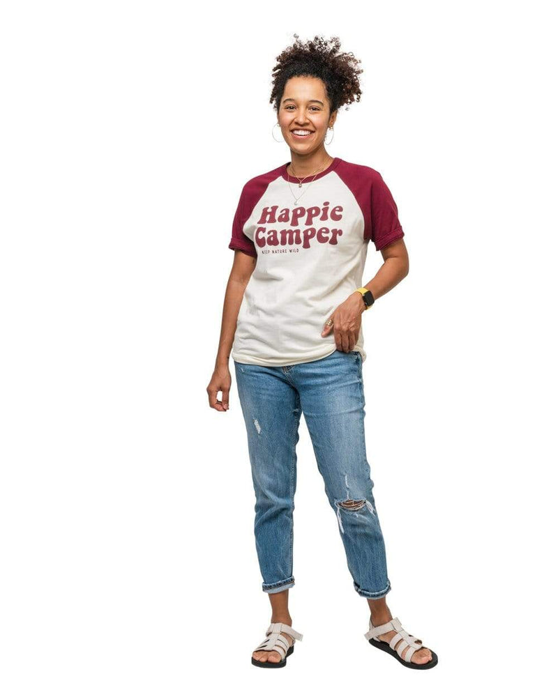 Keep Nature Wild Tee Happie Camper Unisex Tee | Maroon