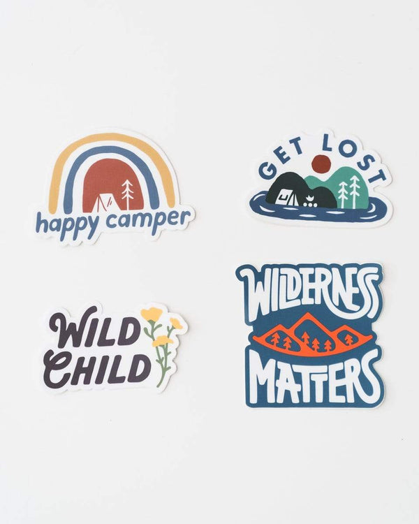 Happy Camper | Sticker Pack - Keep Nature Wild