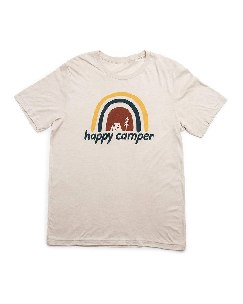 Happy Camper Unisex Tee | Oatmeal - Keep Nature Wild