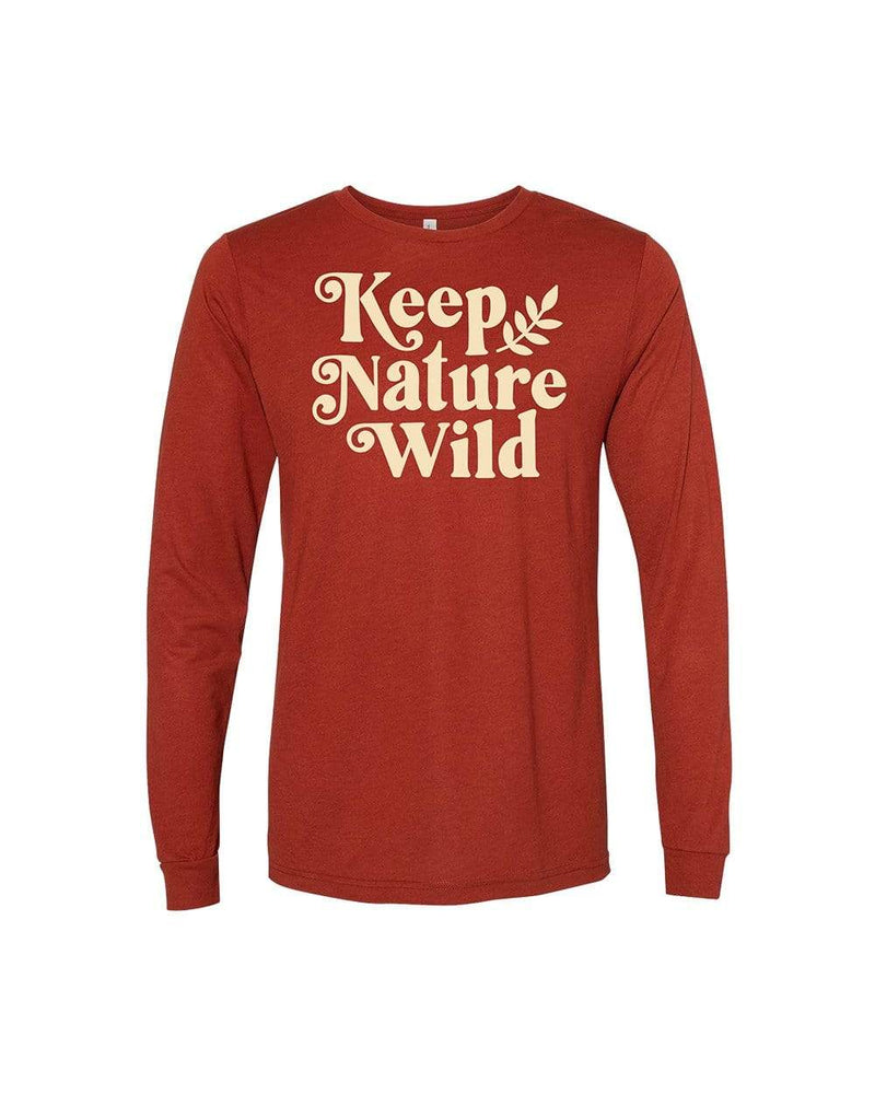 Holly Unisex Long Sleeve | Sedona Red - Keep Nature Wild