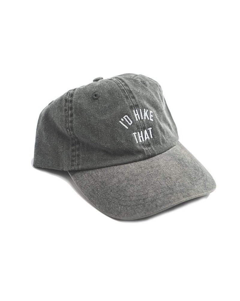 Keep Nature Wild Hat I'd Hike That Dad Hat | Charcoal Gray