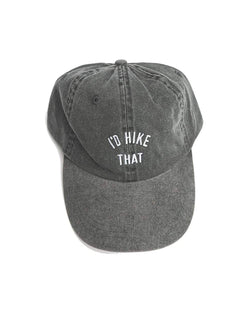 I'd Hike That Dad Hat | Charcoal Gray - Keep Nature Wild