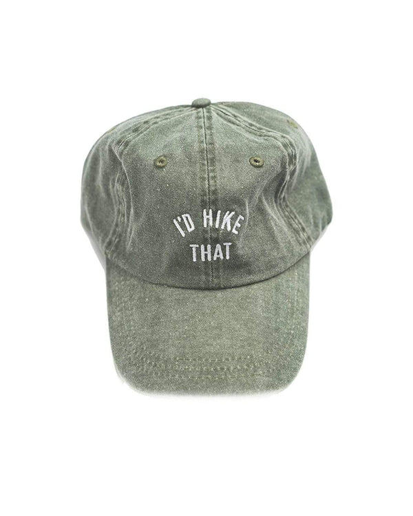Keep Nature Wild Hat I'd Hike That Dad Hat | Forest Green