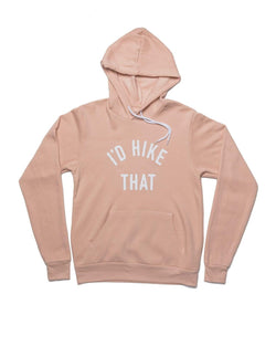 I'd Hike That Fleece Hoodie | Peach - Keep Nature Wild