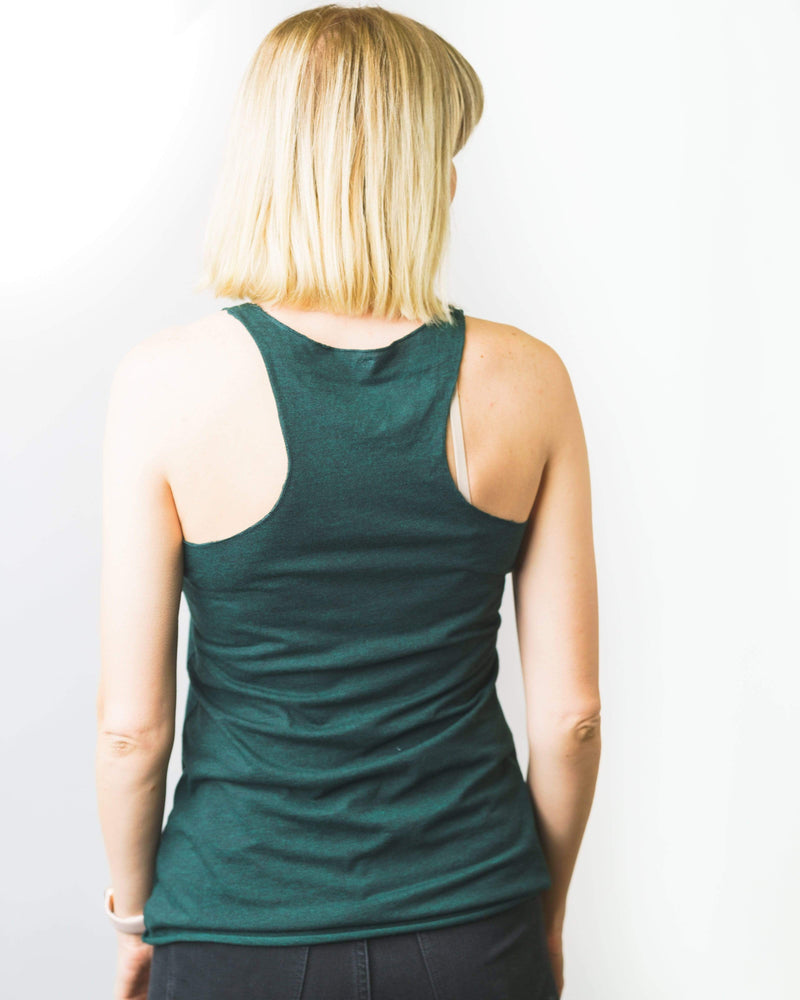 I'd Hike That Racerback Tank | Emerald - Keep Nature Wild