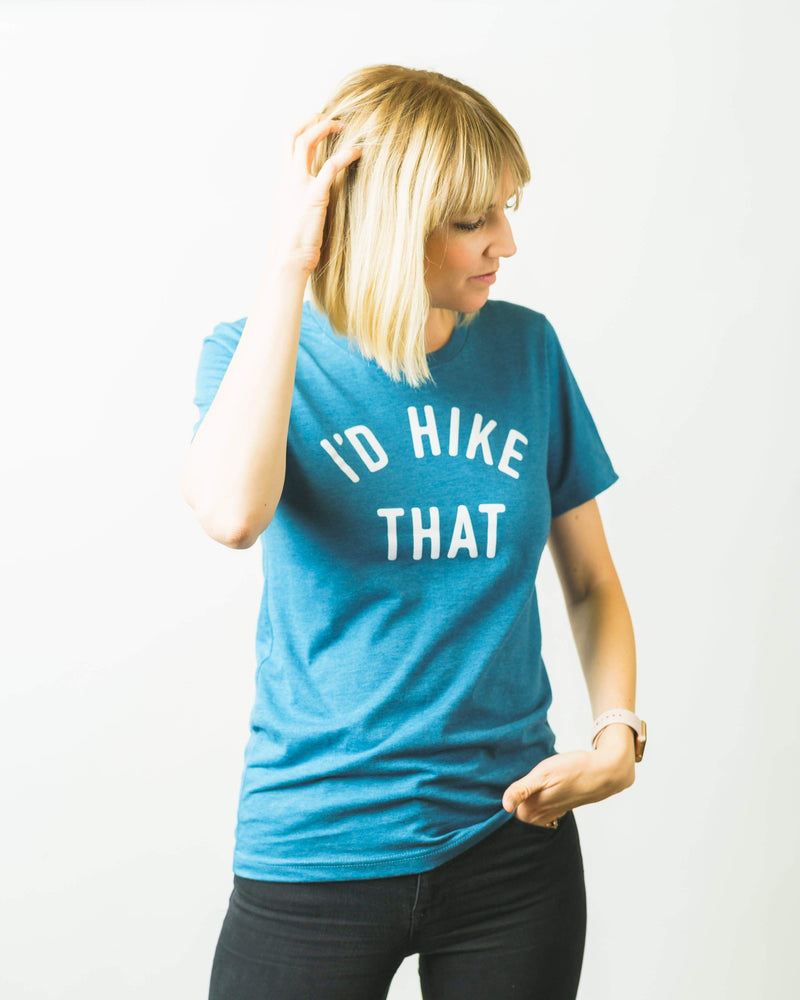 I'd Hike That Unisex Tee | Glacier Blue - Keep Nature Wild