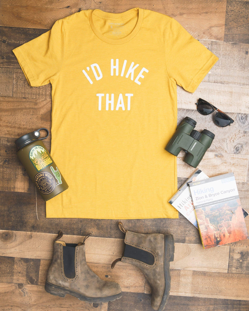 I'd Hike That Unisex Tee | Heather Mustard - Keep Nature Wild