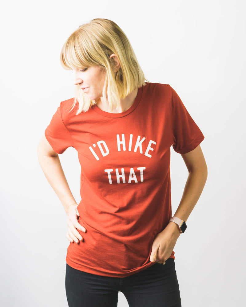 I'd Hike That Unisex Tee | Sedona Red - Keep Nature Wild