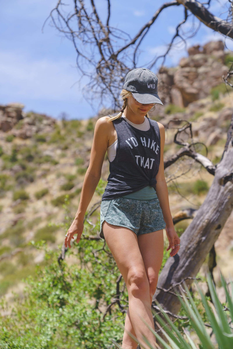 I'd Hike That Women's Muscle Tank | Charcoal Grey - Keep Nature Wild