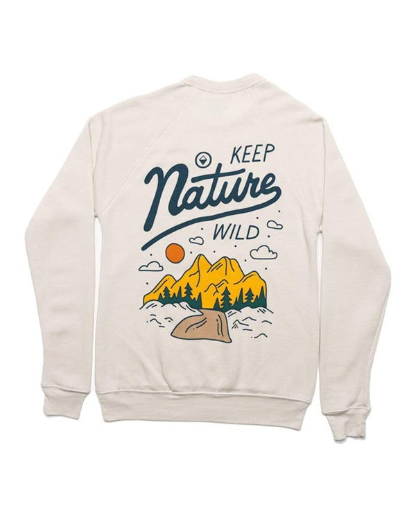 Into The Wild Fleece Raglan Pullover | Dust - Keep Nature Wild