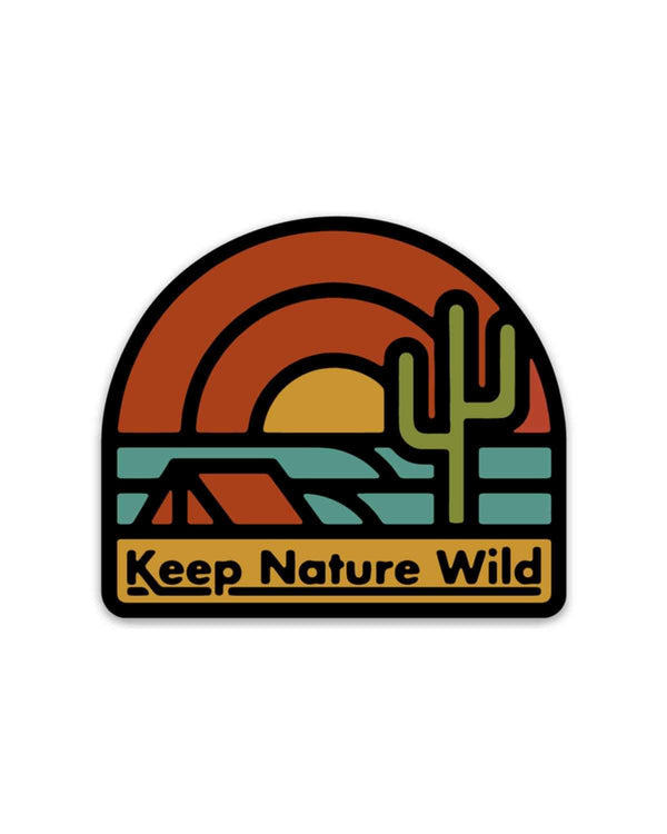 Keep The Desert Wild | Sticker - Keep Nature Wild