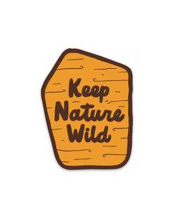 KNW Trail Sign | Sticker - Keep Nature Wild