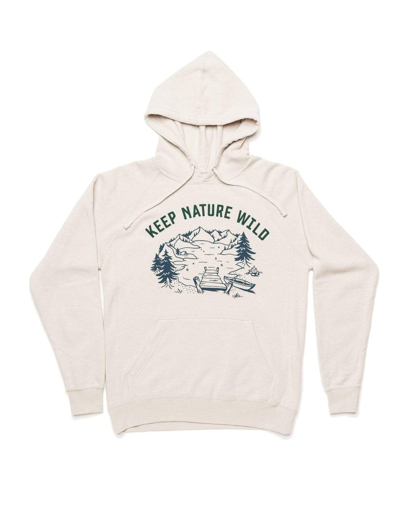 Lakeside Fleece Hoodie | Stone - Keep Nature Wild