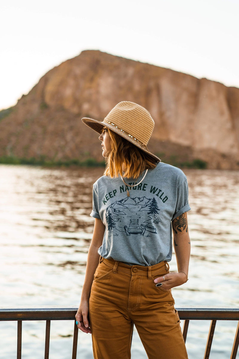 Lakeside Unisex Tee | Deep Gray - Keep Nature Wild
