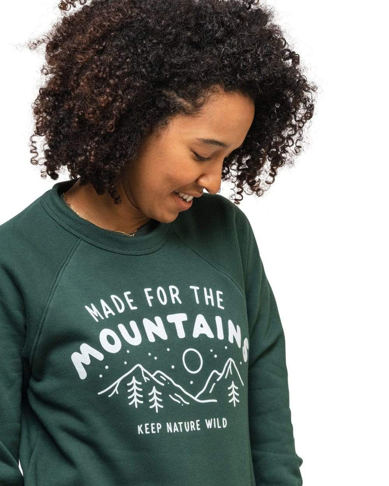 Keep Nature Wild Outerwear Made for the Mountains Unisex Pullover | Forest