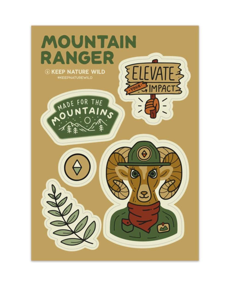 Keep Nature Wild Sticker Mountain Ranger | Sticker Sheet