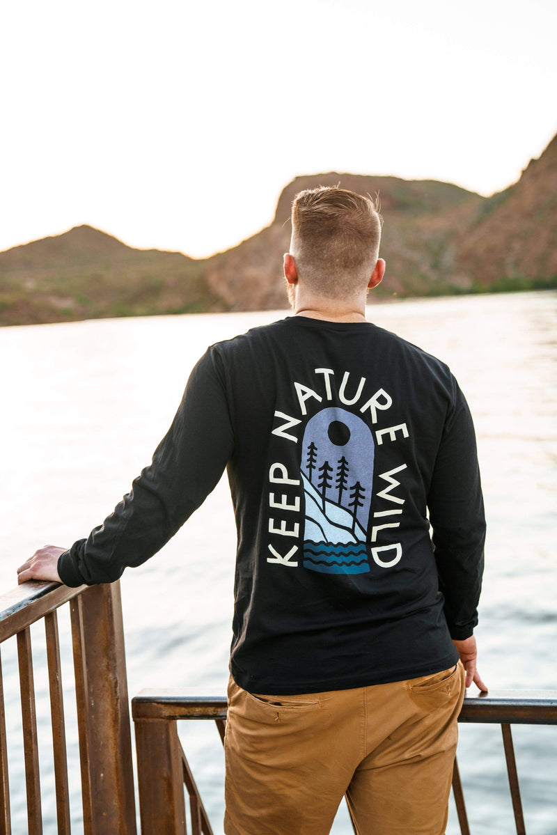 Mountainside Unisex Long Sleeve | Black - Keep Nature Wild