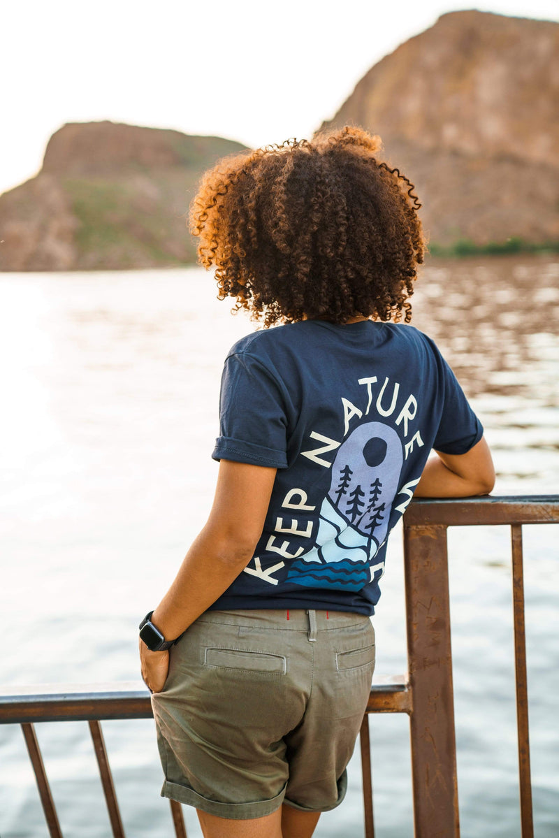 Mountainside Unisex Tee | Navy - Keep Nature Wild