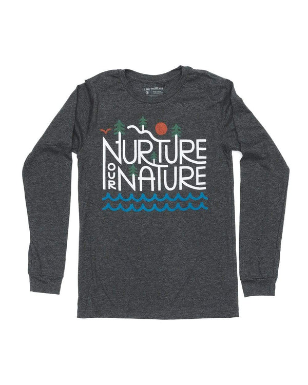 Nurture our Nature Unisex Long Sleeve | Charcoal - Keep Nature Wild