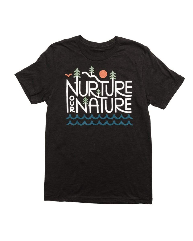 Nurture our Nature Unisex Tee | Heather Black - Keep Nature Wild