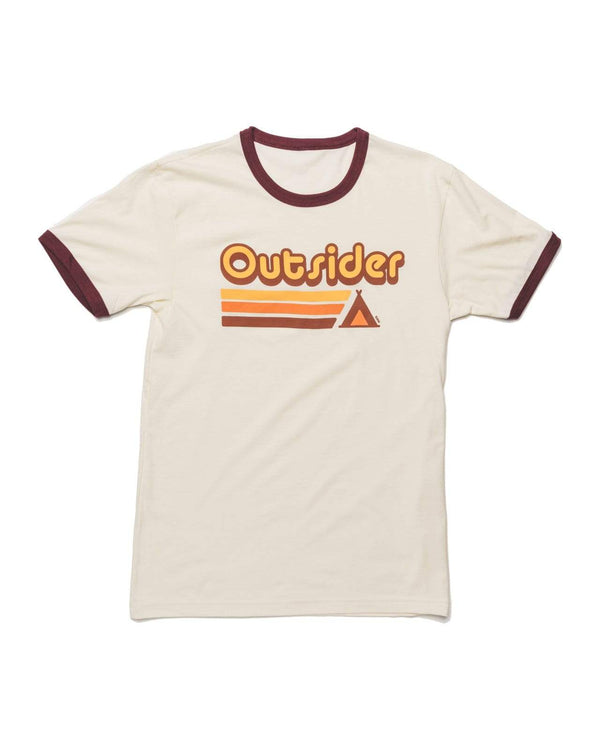 Outsider Ringer Tee | Maroon - Keep Nature Wild