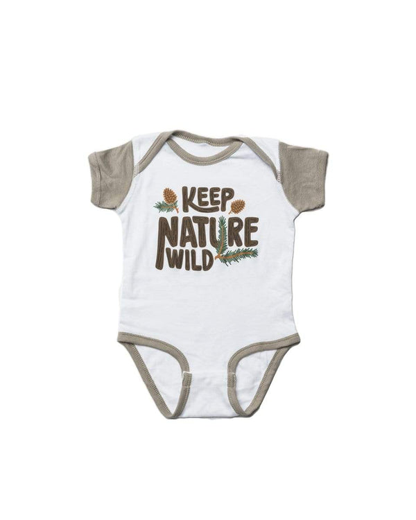 Pinecone Onesie | Stone - Keep Nature Wild